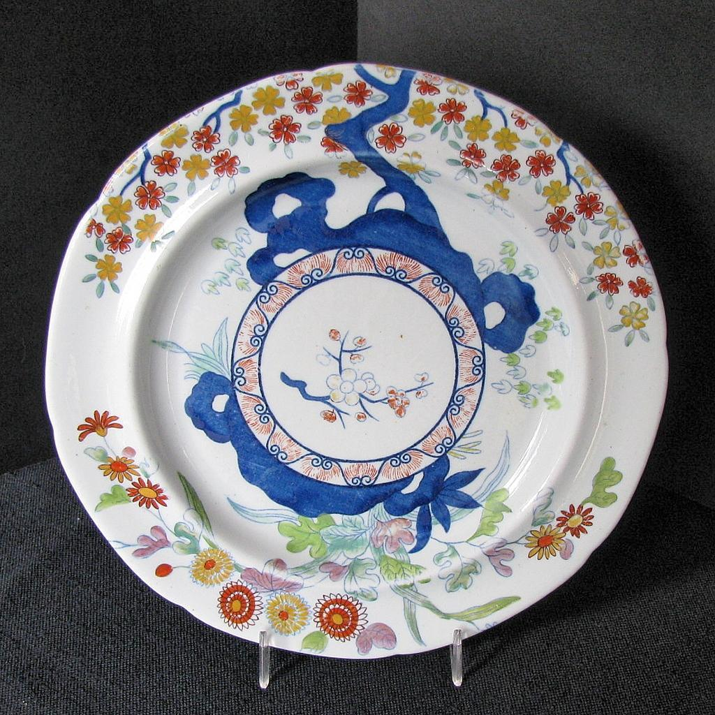 Spode Stone China Plate Chinoiserie Antique Early 19th
