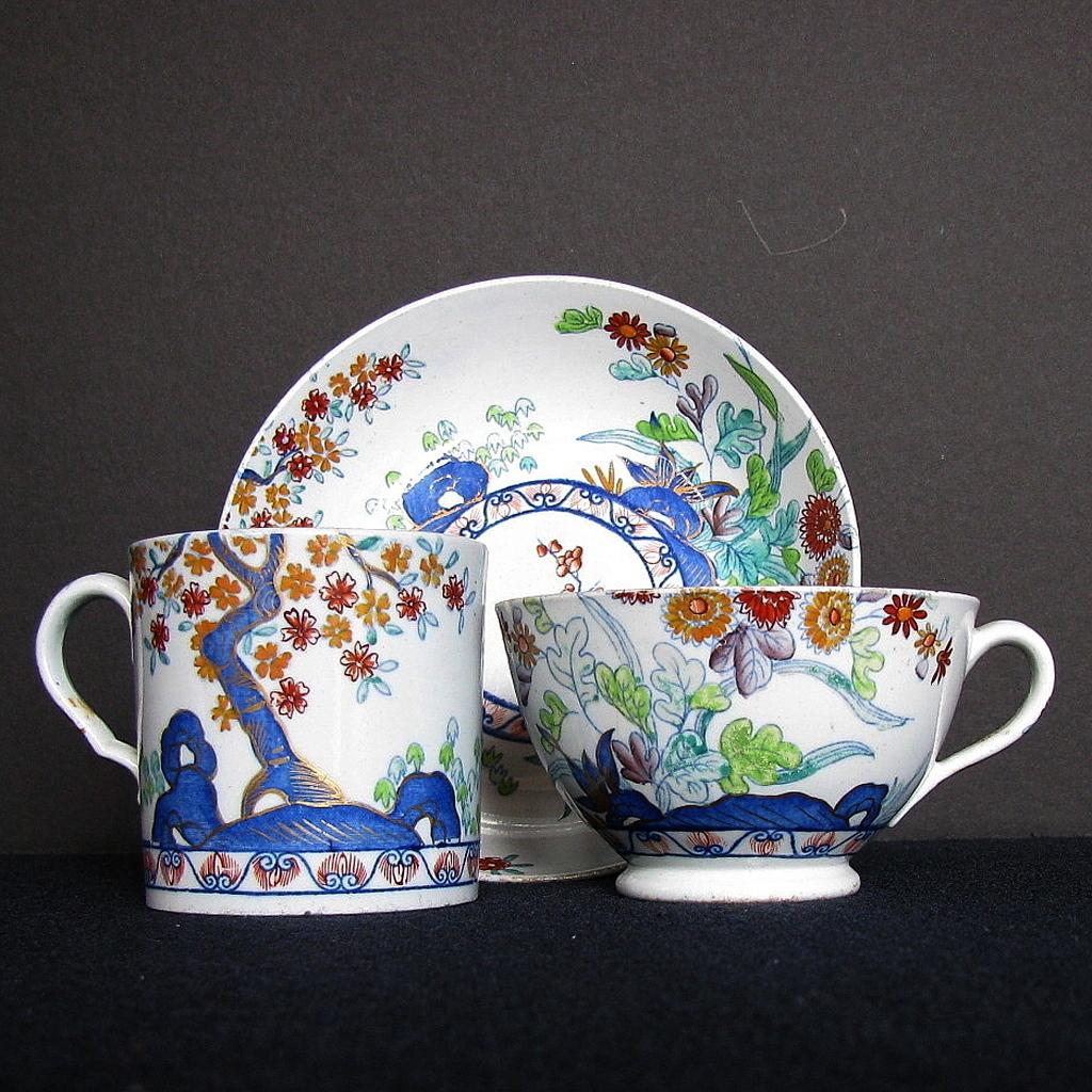 Spode Stone China Trio 2 Cups 1 Saucer English