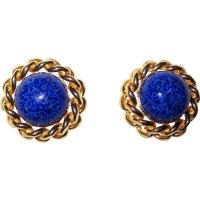Vintage Ciner Faux Lapis Clip Earrings from phalan on Ruby ...