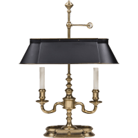 Vintage Frederick Cooper Bouillotte Style Brass Lamp With