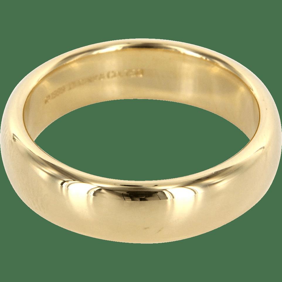 Estate Designer Tiffany  Co 18 Karat Yellow Gold Lucida Mens Wedding from preciousandrarepieces