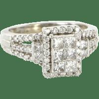 Estate 10 Karat White Gold 1 Carat Diamond Ring Fine ...