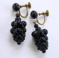 Quirky and Fun - Vintage Grape Earrings! from ...