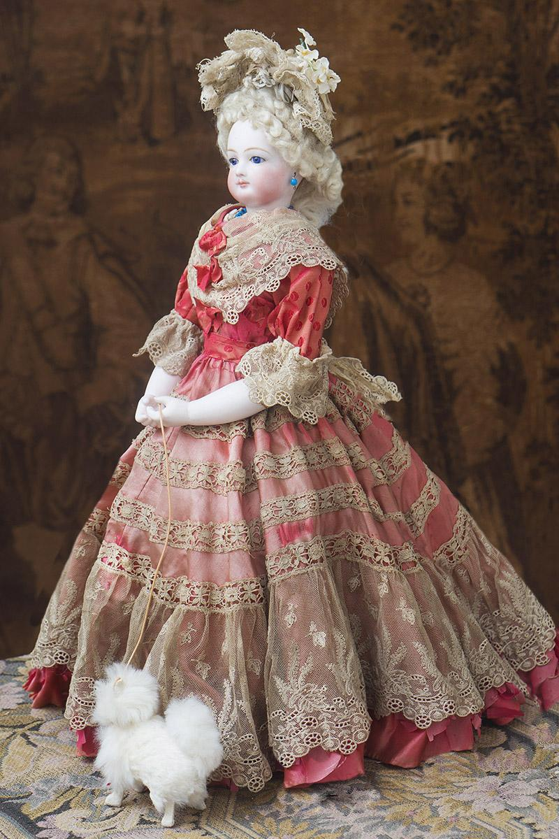 18in Beautiful Antique French Fashion Gaultier Doll