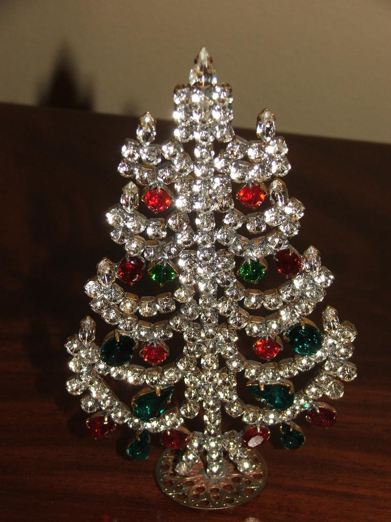 Czech Standing Christmas Tree Decoration from rlreproshop on Ruby Lane