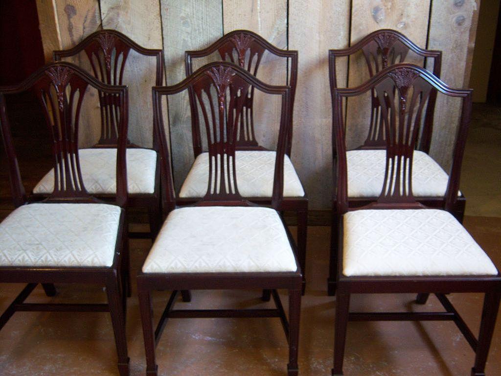 dining chair styles antique plastic rocking chairs mahogany hepplewhite sheraton style set