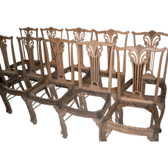 Upholstered Dining Chairs With Oak Legs Swing Chair Quotes Seats Chippendale Design
