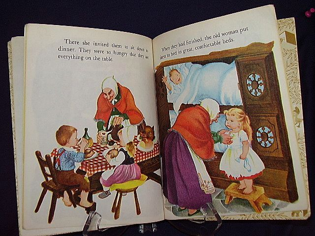 1975 Little Golden Book Hansel And Gretel FREE Shipping