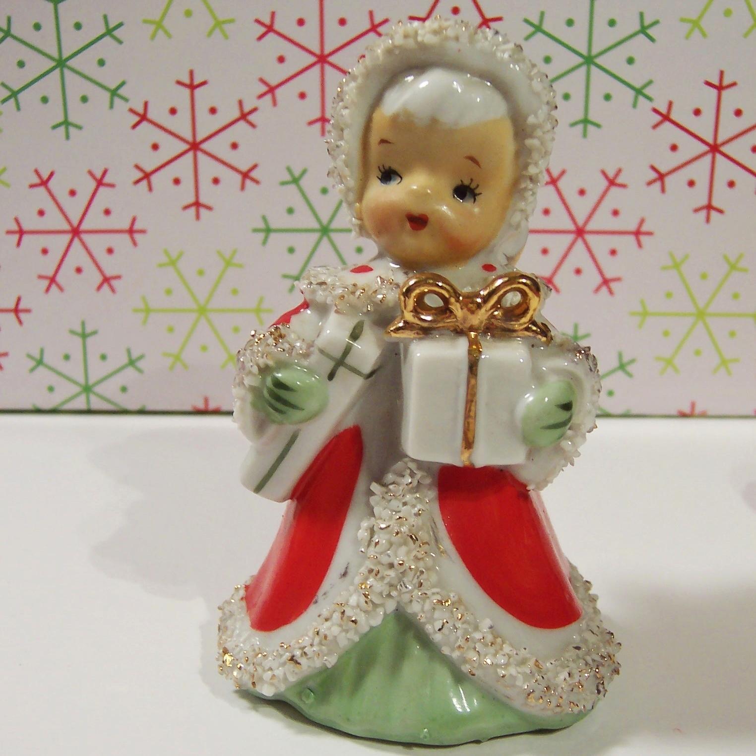 Lefton Japan Christmas Angel Bell Bringing