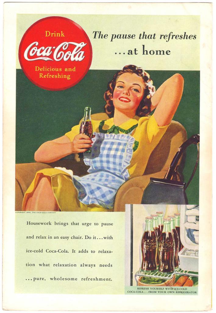 1939 Ads Coca Cola COKE At Home 1940 NASH Car On