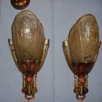 Lincoln Art Deco Slip Shade Wall Sconces- 2 available from ...