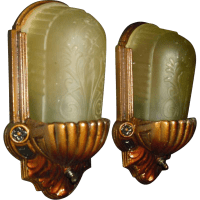 Art Deco Slip Shade Wall Sconces from ...