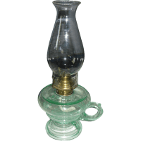 Aquarius Footed Kerosene Oil Hand Lamp / Finger Lamp from ...