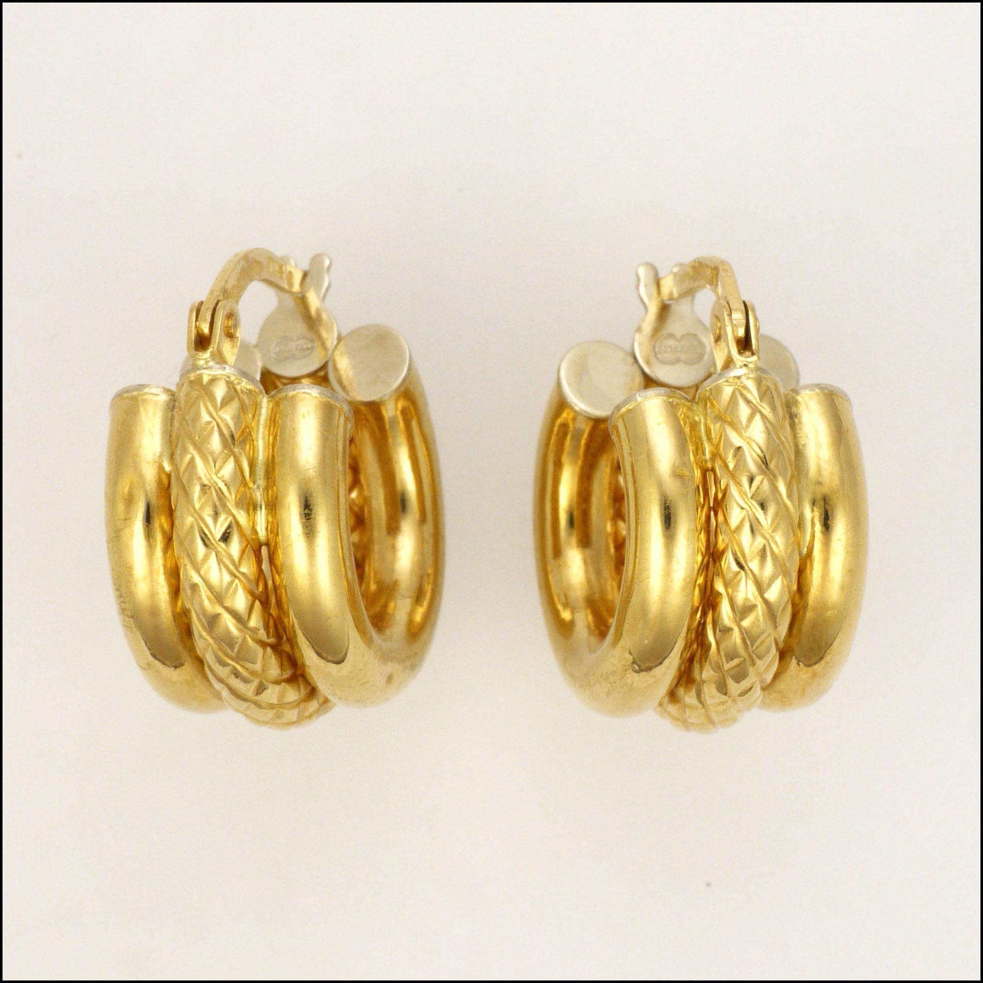 Italian 18 Carat Gold Hoop Earrings