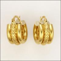 Italian 18 Carat Gold Hoop Earrings - Pierced Ears from ...