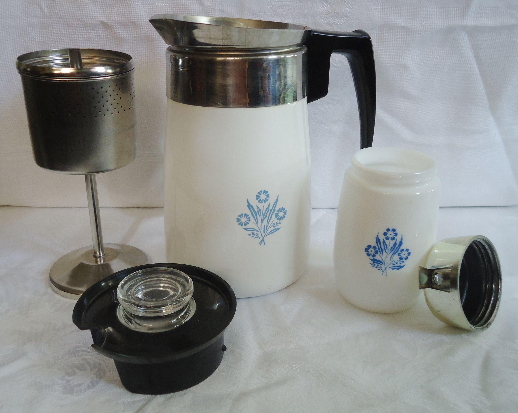 Corning Ware Stove Top Coffee Percolator Sweetcandy