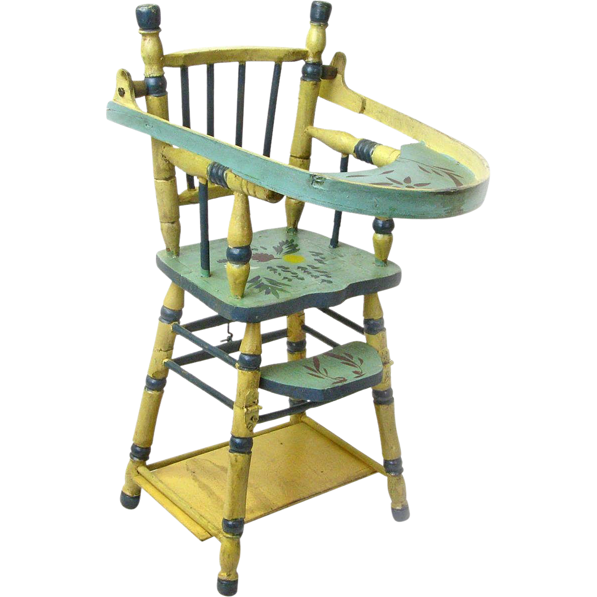 High Chair That Attaches To Chair Convertible Doll High Chair With Game Table Ca 1935 40
