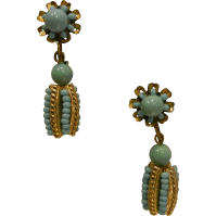 Vintage Miriam Haskell Clip Earrings from sylviasstore on ...