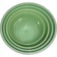 Vintage Fire-King Green Swirl Mixing Bowls from rubylane ...
