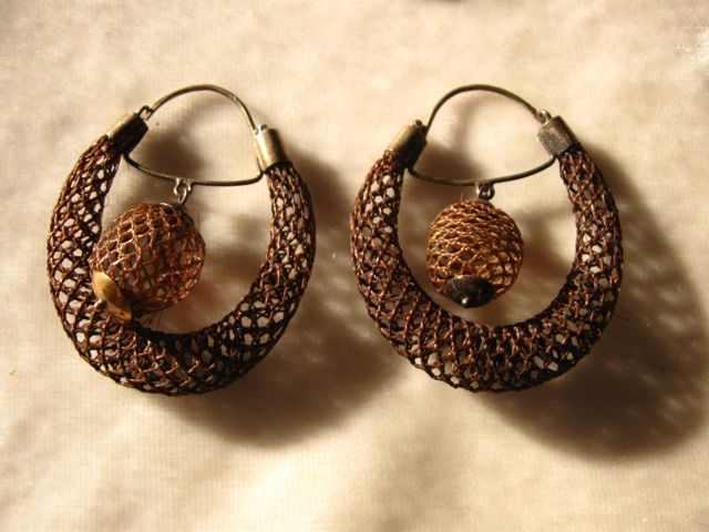 Victorian Woven Hair Hoop Earrings From