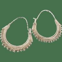 Big Hoop Earrings, Silver Metal, Vintage Earrings, Gypsy