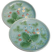 Zell G S German Majolica Plates Set of 2 from wings on ...