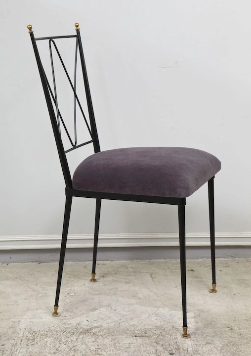 wrought iron dining chairs big fold up chair 6 lerebours antiques rubylux
