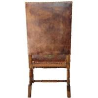 Scandinavian Baroque Leather and Oak Armchair : Eron ...