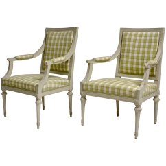 Grey Painted Chairs Bungie Office Chair Pair Of Gustavian Arm Lundgrens Antiques Click To Expand