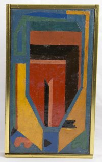 Luis Lopez Loza Abstract Modernist Painting - Mexico ...