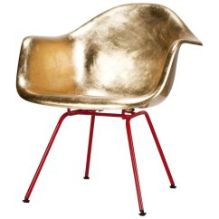Eames Arm Chair Rubber Caps For Legs Golden Armchair Hand Gilded Okay Art Rubylux