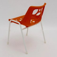 Orange Stackable Chairs Chair Covers For Lazy Boy Recliners Plastic Stacking 1960s Nobarock Moderne