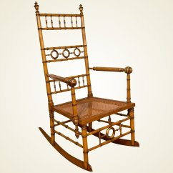 Chair Design Bangladesh Solid Wood High Aesthetic Movement Faux Bamboo Rocking Attributed To