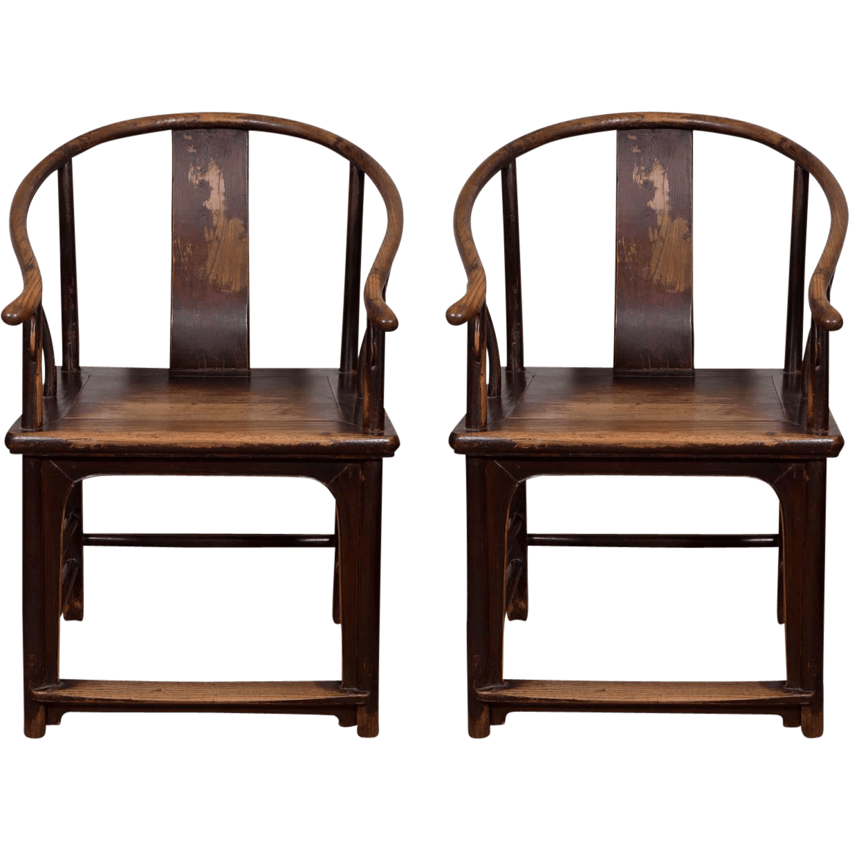 A Pair of 18th Century Chinese Horseshoe Chairs : Jonathan