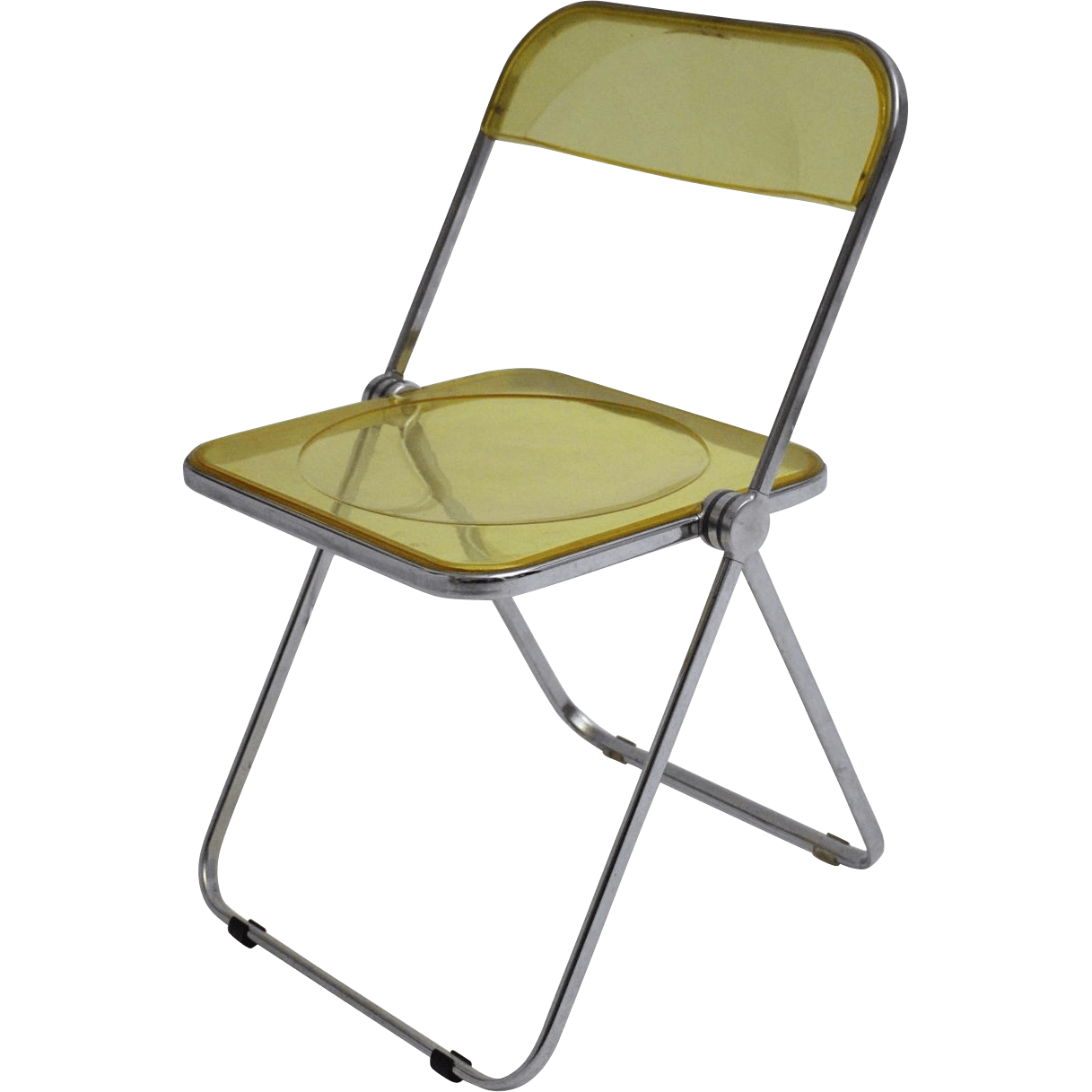 folding chair yellow office spare parts clear by giancarlo piretti 1969