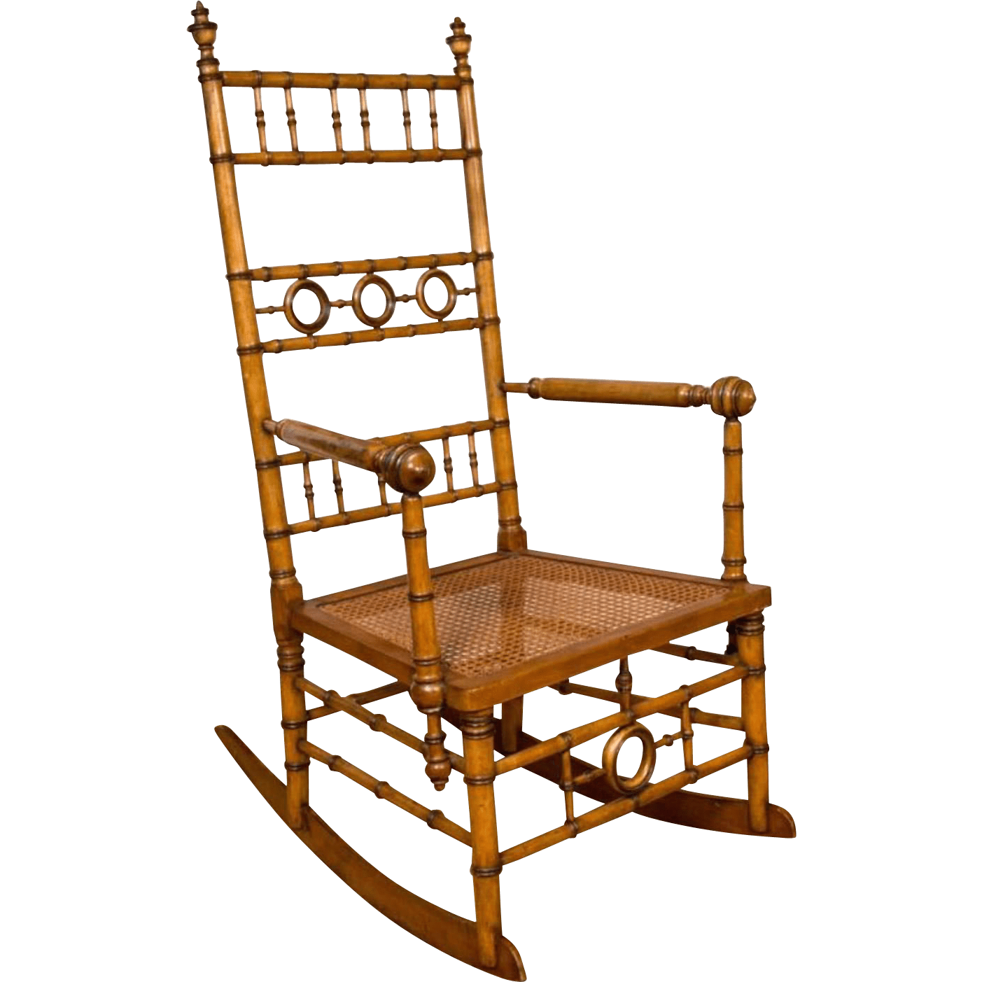 rocking chair realty banquet covers for sale in canada aesthetic movement faux bamboo attributed to