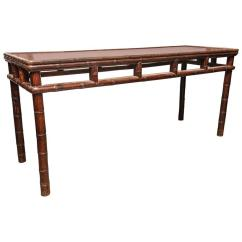 Long Slim Sofa Table Tidafors Bed Uk Console With Bamboo Motif From Vw Home By