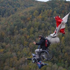Wheelchair Jump La Z Boy Big And Tall Executive Office Chair Over The Edge Sbnation