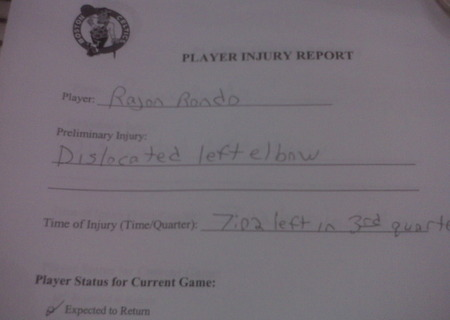 Rondo injury report