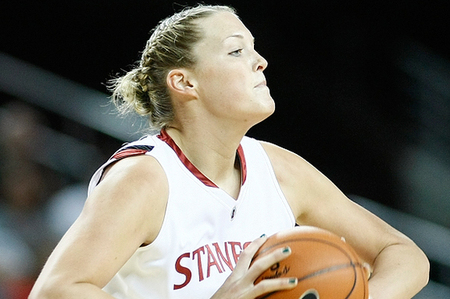 "Even after what most people considered a ""down"" year for  Stanford University center Jayne Appel, her passing ability in the post  remains an asset to WNBA teams. (Photo by Craig Bennett/112575 Media)"