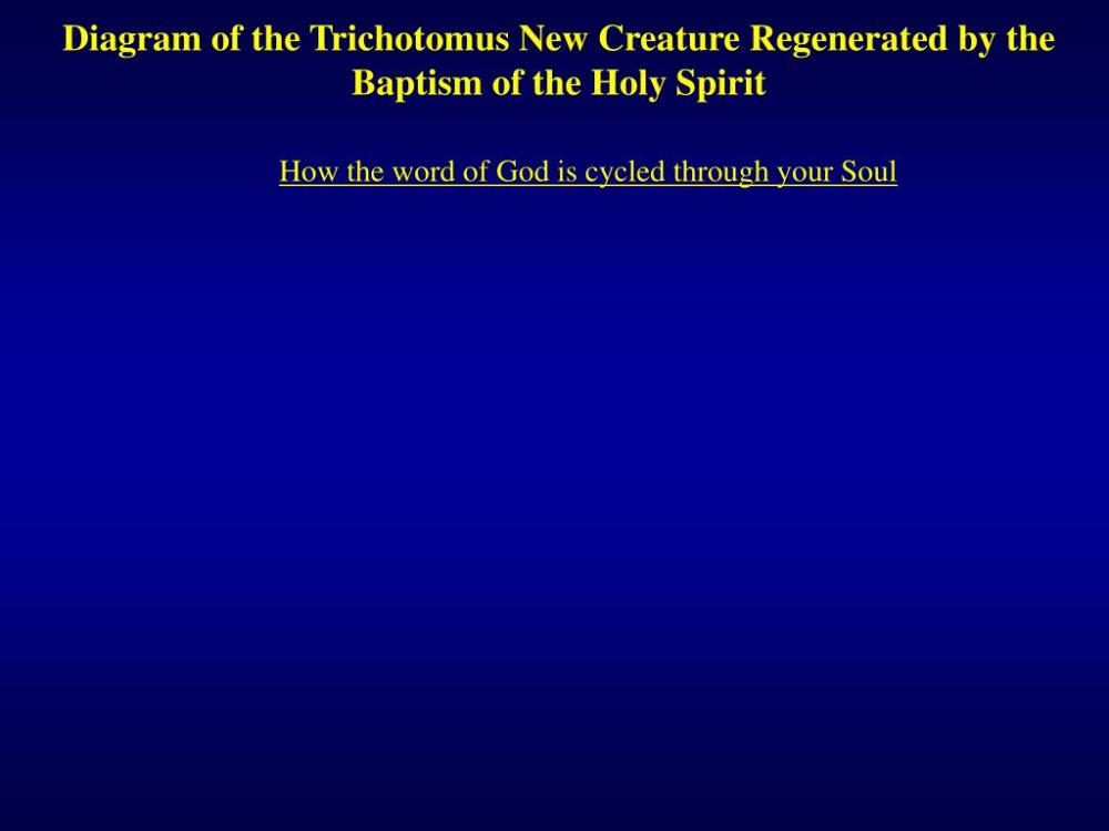 medium resolution of diagram of the trichotomus new creature regenerated by the baptism of the holy spirit how the word of god is cycled through your soul