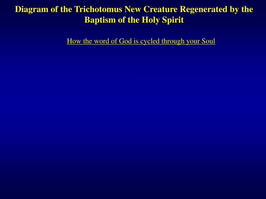 hight resolution of diagram of the trichotomus new creature regenerated by the baptism of the holy spirit how the word of god is cycled through your soul