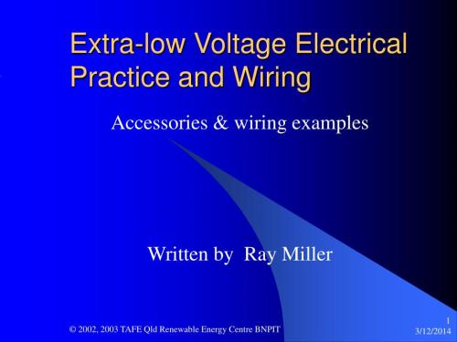 small resolution of ppt extra low voltage electrical practice and wiring powerpoint electrical wiring accessories information ppt