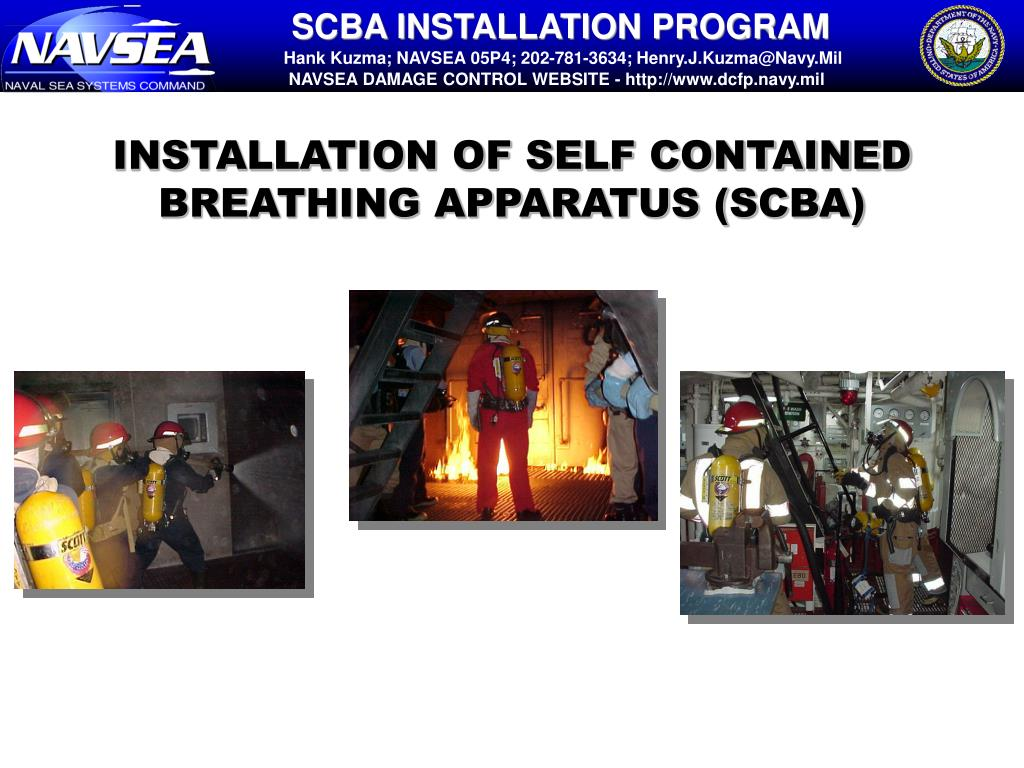 hight resolution of installation of self contained breathing apparatus scba l