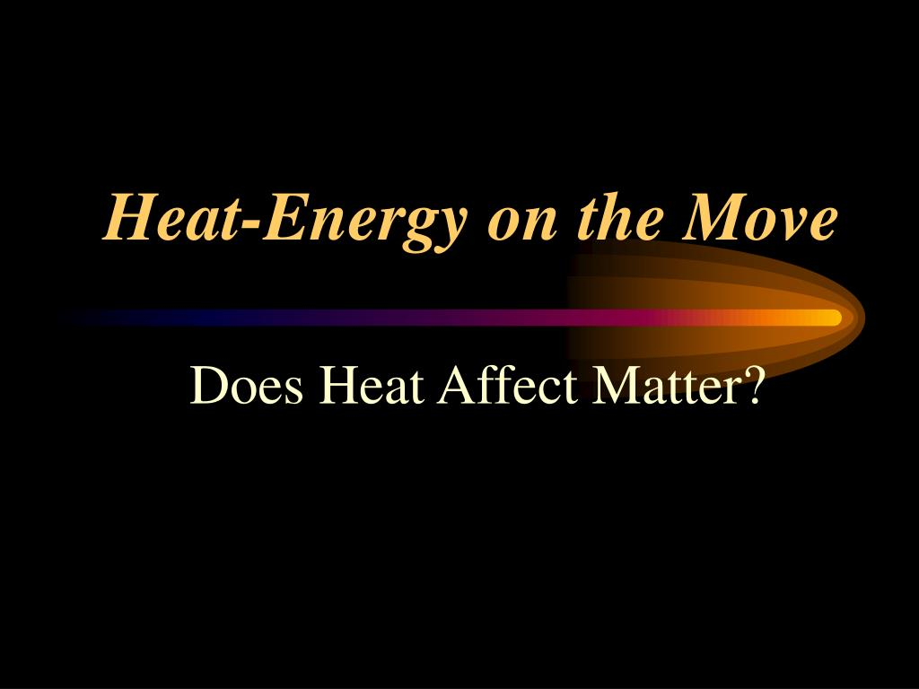 hight resolution of heat energy on the move l