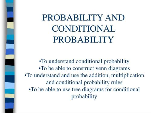 small resolution of probability and conditional probability l