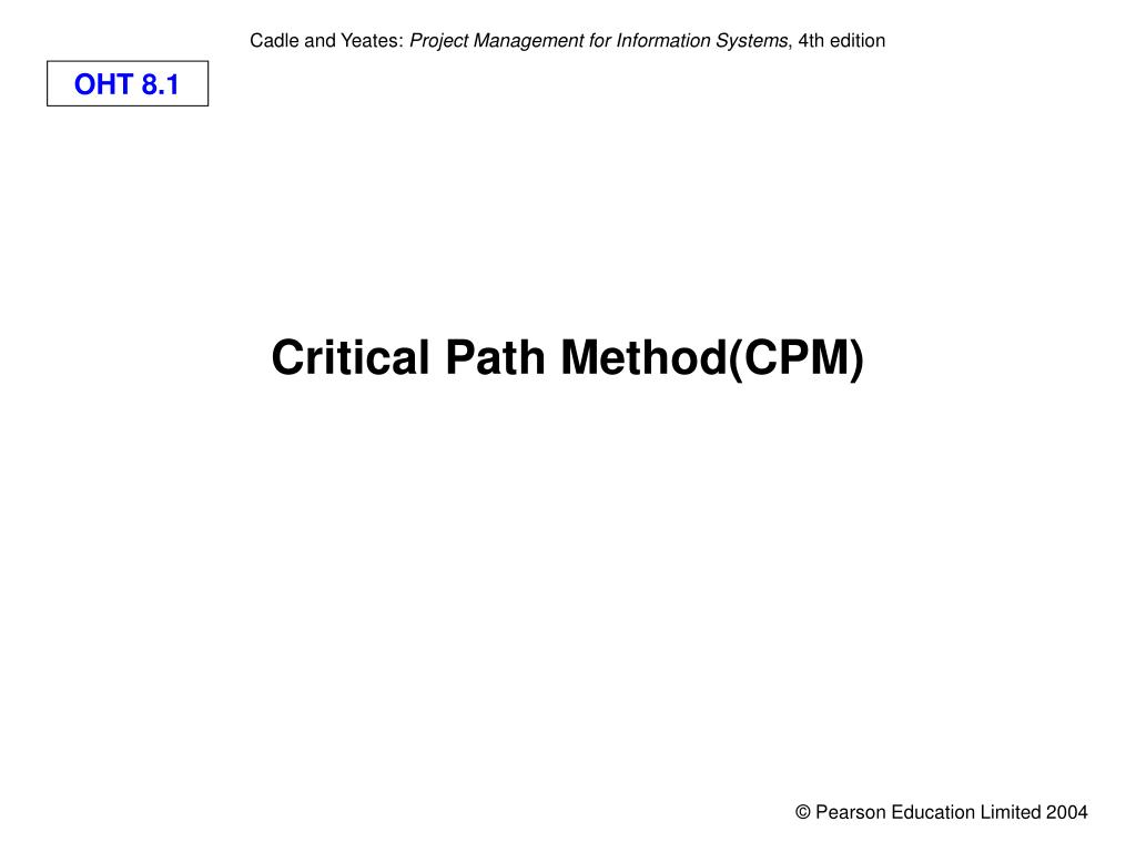 hight resolution of critical path method cpm l