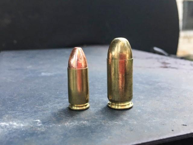 9mm vs 45 ACP caliber wars