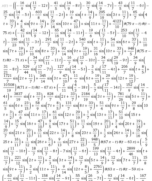This awesome 18,811 character set of parametric equations
