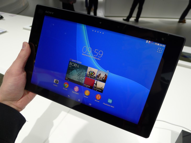 P1050235 730x547 Sony Xperia Z2 Tablet hands on: A remarkably slim, light and powerful 10.1 inch Android slate